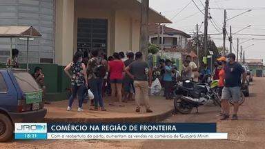 Comércio na região de fronteira - Com a reabertura do porto, aumentam vendas no comércio de Guajará-Mirim.