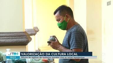 Oficinas sobre cerâmicas tapajônicas são realizada no Centro Cultural em Santarém - Programação é em celebração ao aniversário de 29 da instituição no município.