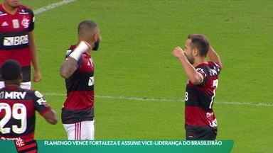 Flamengo vence Fortaleza e assume vice-liderança do Brasileirão - Flamengo vence Fortaleza e assume vice-liderança do Brasileirão