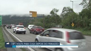 Mais de 275 mil veículos desceram para o litoral paulista durante feriado de Independência - Rodovias registraram movimento intenso durante todo o feriado.