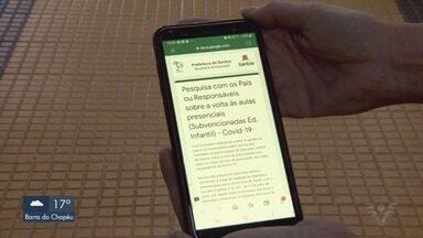 Prefeitura de Santos define que as aulas presenciais não voltarão em 2020 - Escolas permanecerão fechadas até o final de 2020, com aulas à distância.
