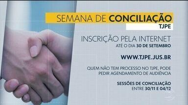 TJPE inscreve para a Semana Nacional de Conciliação - Ações de família e outras podem ser resolvidas em audiências de conciliação.