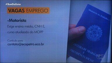 Confira vagas de emprego em Goiás - Fique atento às oportunidades de trabalho.
