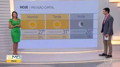 Calorão deve continuar em BH - Além das altas temperaturas, a umidade relativa do ar também deve atingir índices em torno dos vinte por cento.
