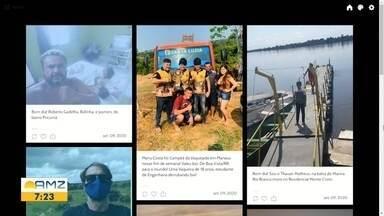 Participação dos telespectadores desta quarta-feira (9) no Bom Dia Amazônia - Todos os dias os telespectadores enviam fotos do dia a dia.