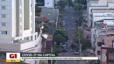 COVID-19: veja a distribuição de casos e mortes por bairros de Belo Horizonte - Buritis, Alto Vera Cruz e Castelo registram o maior número de casos, segundo boletim divulgado nesta quarta-feira (2). Ao todo, são 36.351 pessoas contaminadas pelo coronavírus e 1.079 mortes, em BH.