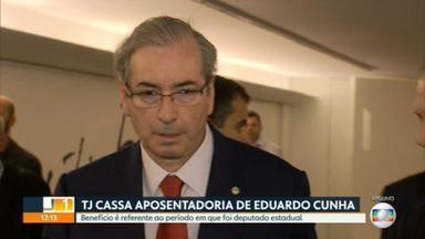 Eduardo Cunha tem a aposentadoria cassada - O ex-presidente da Câmara dos Deputados teve a aposentadoria cassada. O benefício era estadual, já que ele foi deputado da Alerj de 1999 a 2002.