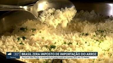 Arroz está mais caro em São Paulo, segundo balanço do Instituto de Pesquisas Econômicas - Produto teve uma alta de quase 30% em 12 meses.