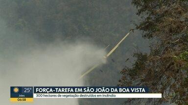 Forte estiagem provoca queimadas e desabastecimento de água - Incêndio em São João da Boa Vista, em Rio Preto e a secura na capital.
