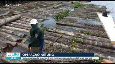 Operação apreende mais de 2 mil metros cúbicos de madeira no Marajó - Foram 8 dias de ações em Curralinho, Breves e Gurupá.