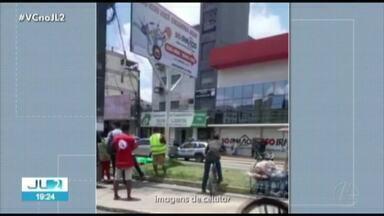 Funcionários e pacientes vivem pânico durante assalto dentro de laboratório em Ananindeua - Grupo de assaltantes invadiu o local, que fica no km 8 da BR-316.