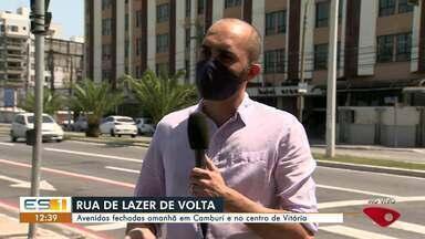 Rua de Lazer volta a funcionar em Vitória - Veja a seguir.