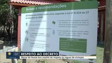 Morro do Itaoca tem manhã de desrespeito às regras de visitação - Prefeitura liberou visitação de segunda a sexta, mas aos fins de semana as visitas estão proibidas.