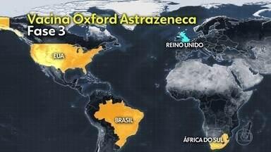 Universidade de Oxford anuncia a retomada dos testes com vacina contra Covid - Oxford e AstraZeneca confirmam que uma investigação independente foi concluída após reação adversa em voluntária, e que o regulador britânico liberou a retomada dos testes no Reino Unido.
