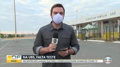 Unidades de saúde estão sem teste de Covid-19 - Pacientes reclamam que não conseguem fazer exame de Covid-19.