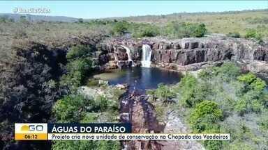 Projeto cria novo parque na Chapada dos Veadeiros, em Goiás - Águas do Paraíso ainda está em implantação.