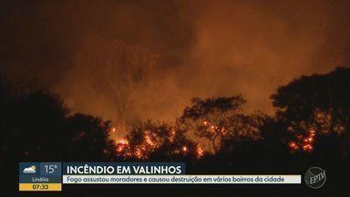 Incêndios são registrados em Campinas, Mogi Mirim e Valinhos no fim de semana - Chamas atingiram área de preservação ambiental na metrópole, trecho da Rodovia SP-304 em Mogi Mirim (SP) e três pontos diferentes em Valinhos (SP).