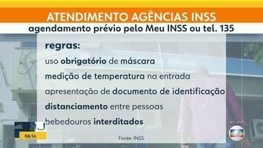 Agências do INSS voltam a funcionar nesta segunda (14) - Quem precisa do serviço tem que seguir várias regras.