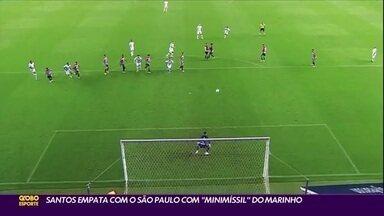 """Santos 2 x 2 São Paulo: """"minimíssil"""" de Marinho empata o clássico na Vila Belmiro - Santos 2 x 2 São Paulo: """"minimíssil"""" de Marinho empata o clássico na Vila Belmiro"""