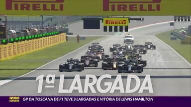 GP da Toscana de Fórmula 1 teve três largadas e vitória de Hamilton - GP da Toscana de Fórmula 1 teve três largadas e vitória de Hamilton