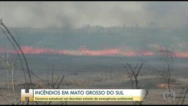 Governo do Mato Grosso do Sul decreta estado de emergência ambiental - Governo estadual vai decretar estado de emergência ambiental.