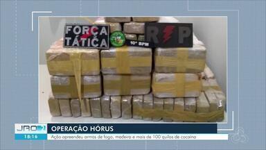 Operação Hórus - Ação apreendeu armas de fogo, madeira e mais de 100kg de cocaína.