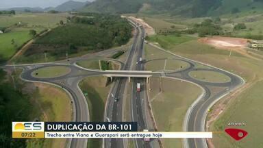 Duplicação da BR-101: Trecho entre Viana e Guarapari será entregue nesta terça-feira - A repórter Carol Monteiro foi conferir a obra.