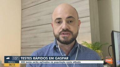 Testes rápidos serão aplicados em moradores de Gaspar no sábado - Testes rápidos serão aplicados em moradores de Gaspar no sábado