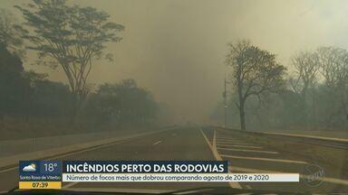 Número de queimadas perto de rodovias da região de Ribeirão Preto sobe 140% - Aumento foi observado em relação aos registros de agosto.