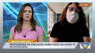 Profissionais da educação fazem testes da Covid-19 em São José - Confira as informações.
