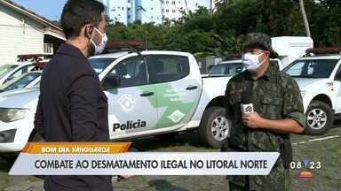 Combate ao desmatamento ilegal no litoral norte - Confira as informações.