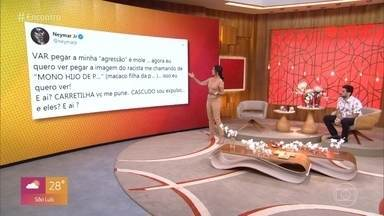Ex-goleiro Aranha e juiz Nicolitt comentam episódio de racismo contra Neymar - Neymar acusa jogador espanhol de tê-lo chamado de macaco durante um jogo válido pelo campeonato francês. Atleta reclama da falta de punição