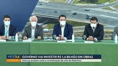 Governo do estado vai investir R$ 1,6 bilhão em obras - Entre os projetos está a revitalização da orla de Matinhos.
