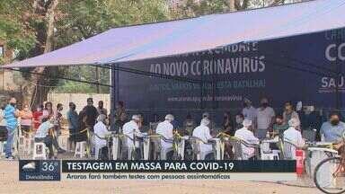 Araras faz testagem em massa para a Covid-19 - Testes também serão realizados em pessoas assintomáticas.