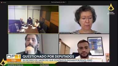 Osnei Okumoto diz a deputados que contratos na saúde passam por pente-fino - Secretário de Saúde também diz lamentar escândalos na pasta e afirma colaborar com investigações.