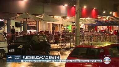 Em Belo Horizonte, bares e restaurantes podem vender bebida alcoólica de quarta a domingo - Medida foi anunciada pela prefeitura de Belo Horizonte na última sexta-feira, 18. Estabelecimentos podem vender bebida alcoólica de quarta a sexta, das 17h às 22h; e sábado e domingo e feriados, de 11h às 22h.
