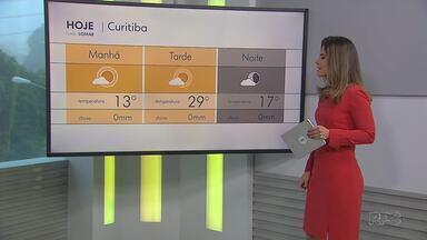 Calor é destaque nesta sexta-feira - Em Curitiba, a temperatura máxima pode chegar a 29°C.