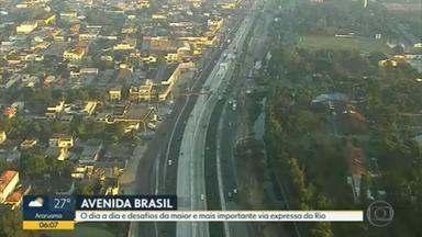 Avenida Brasil é a mais importante via expressa do Rio - A série de reportagens mostra o dia a dia e desafios da maior e mais importante via expressa do Rio.