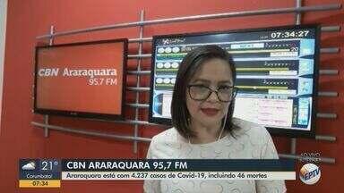 Araraquara soma 4.237 casos de Covid-19 e 46 mortes - Paula Cardoso, apresentadora da CBN Araraquara, tem mais informções.