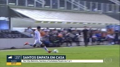 Santos empata com o Fortaleza no Brasileirão - Time da baixada jogou em casa.
