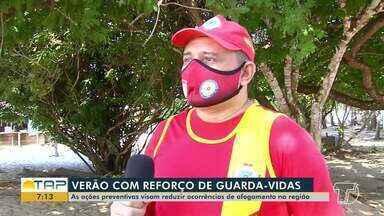 Praias têm reforços de guarda-vidas em Santarém e região metropolitana - Confira na reportagem.