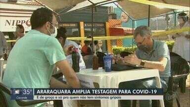 Araraquara amplia testagem de Covid-19 para quem não está com sintomas gripais - Coleta é gratuita é está sendo feita em dois pontos da cidade.