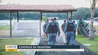 Comitiva do Ministério da Justiça visita Amapá para reforçar segurança na fronteira - Órgão planeja iniciar projeto que visa aumentar presença do estado em divisas e fronteiras.