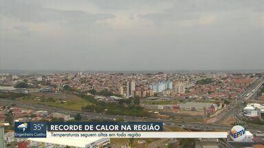 Temperaturas seguem altas na região; confira a previsão completa - Campinas (SP) deve chegar a 36ºC nesta segunda-feira (28).