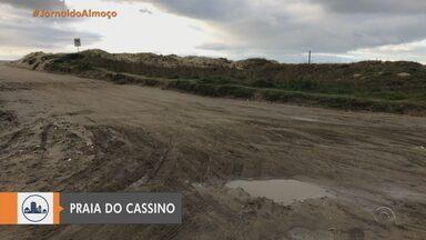 Praia do Cassino é liberada com restrições em Rio Grande - Uso de máscara é obrigatório.