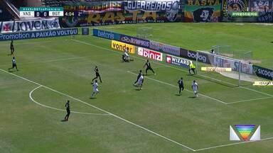 Bragantino desperdiça chances claras e fica no empate com o Vasco em São Januário - Massa Bruta teve ainda duas chances claras de balançar as redes com Alerrandro, que parou em Fernando Miguel.