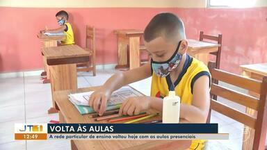 Rede particular de educação volta às aulas nesta segunda-feira em Santarém - Medidas de segurança foram adotadas pelas instituições como forma de prevenção à Covid-19.