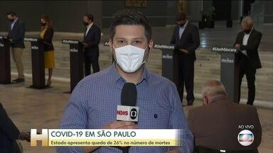 Estado de São Paulo apresenta queda na média móvel de mortes - Novos números divulgados hoje apontam redução de 26%.