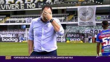 Fortaleza faz jogo duro e arranca empate com Santos na Vila Belmiro - Fortaleza faz jogo duro e arranca empate com Santos na Vila Belmiro