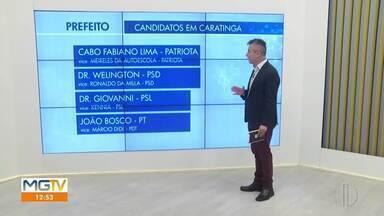 Eleições Caratinga: confira os quatro candidatos a prefeito - Prazo para registro de candidaturas terminou nesse domingo (27).